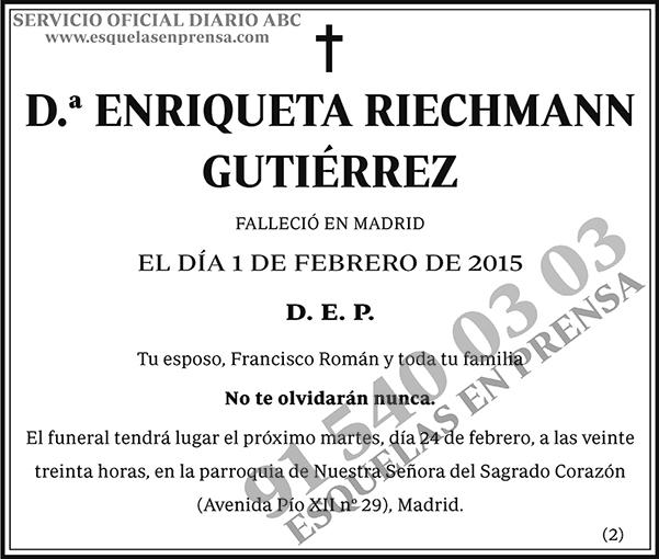 Enriqueta Riechmann Gutiérrez